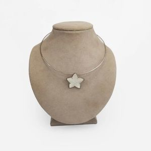 Lalique Crystal Starfish Necklace